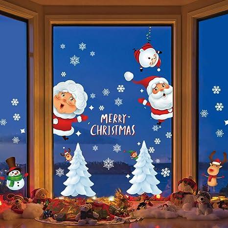 Fensterbilder Weihnachten Selbstklebend,Fensterbilder Weihnachten,Schneeflocken Weihnachtsdeko,Weihnachtsdeko,PVC Fensterdeko Selbstklebend,Fensterdeko Schneeflocken,Weihnachten Fensterdeko