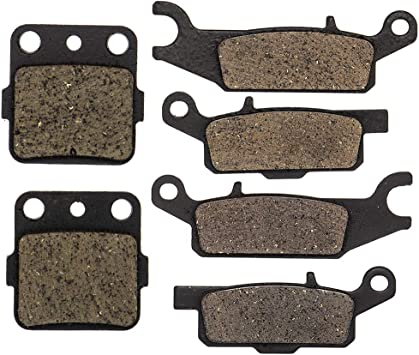 ECCPP FA444 FA443 FA84 Brake Pads Front and Rear Carbon Fiber Replacement Brake Pads Kits Fit for 2008-2012 Yamaha Raptor 250 YFM250R,2008 Yamaha Raptor 250 YFM250RSP Special Edition