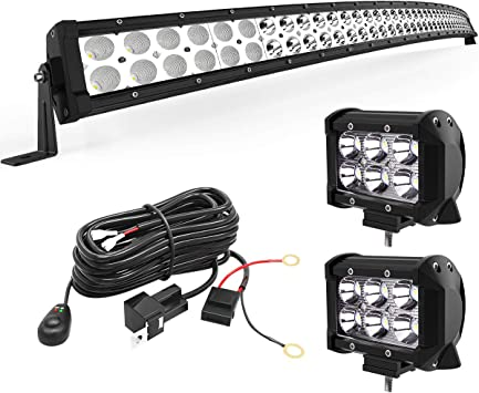 WIRE HARNESS 50Inch 288W LED Work Light Bar Fog Driving SUV 4WD JEEP Truck 4X4