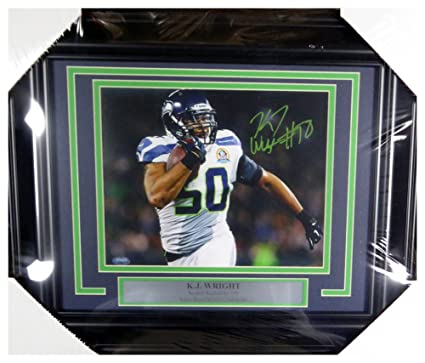 K.J. KJ Wright Autographed Signed Framed 8x10 Photo Seattle Seahawks -  Certified Authentic 83d792f17