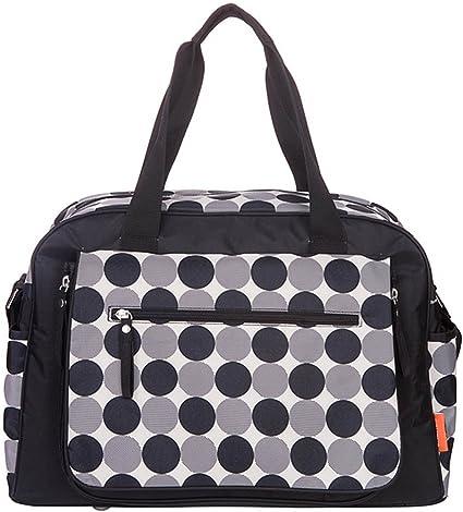 Black Circles Large Baby Changing Bag Luxury Nappy Bag Changing Mat 5PCS