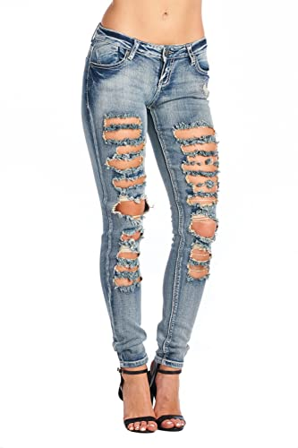 BLUE AGE Women Multistyle Destroyed/Ripped Skinny Jeans