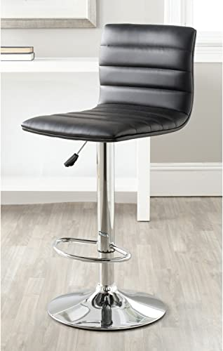 Safavieh Home Collection Arissa Black Adjustable Swivel Gas Lift 23.8-29.9-inch Bar Stool