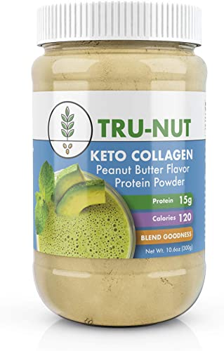 Tru-Nut Keto Collagen Protein Powder 10.6oz, 12 Servings Low Carb Protein Blend with MCT Powder, Use for Keto Drinks and Snacks, Gluten Free