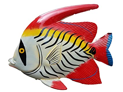Large 10 X 7 5 Acryic Resin Decorative Indoor Outdoor Tropical Fish Wall Decor