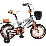 VLRA 12 Inch Fitness Children Bike - Grey, Orange & Black