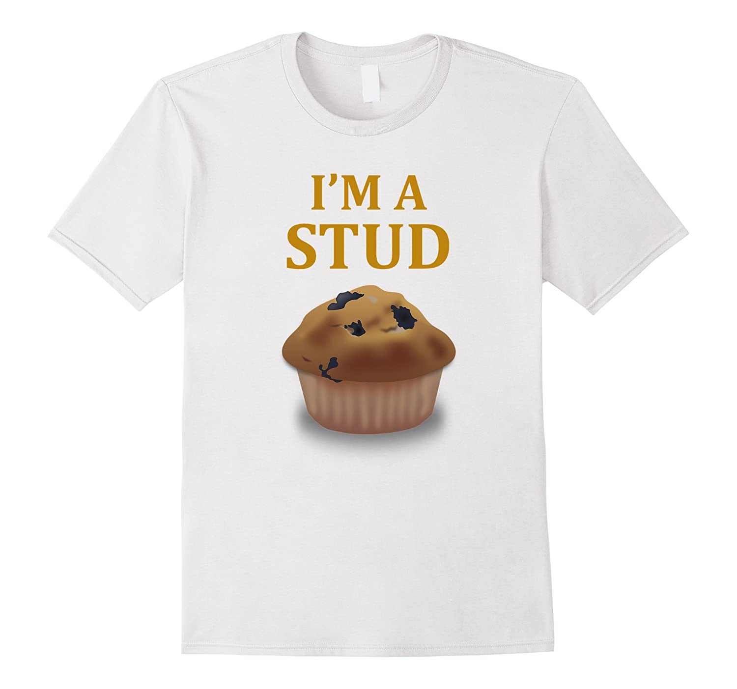 Stud Muffin  Stud Muffin Food Tee Foodie Cupcake Black Basic Men/'s T-Shirt