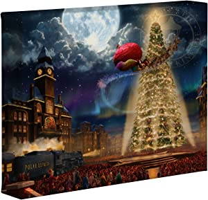 Thomas Kinkade Studios Polar Express 8 x 10 Gallery Wrapped Canvas
