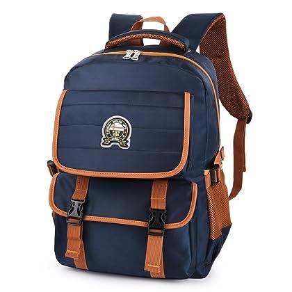290d54d76f Vbiger School Backpack Breathable Shoulder Bag Outdoor Daypack for Primary  Students (Dark Blue)