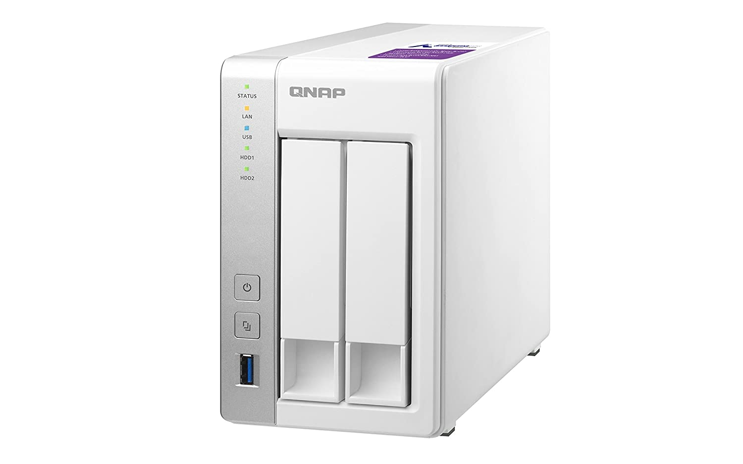 QNAP TS-231P, 2bay, 1GB RAM, Cost-effective NAS (Network-attached Storage),  Private Cloud, Backup, Share & Restore Files, stream multimedia files with