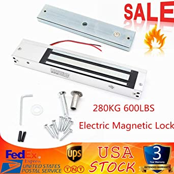 Electric Magnetic Lock 280KG 600Lbs Control Kit Holding Force Door Entry Access