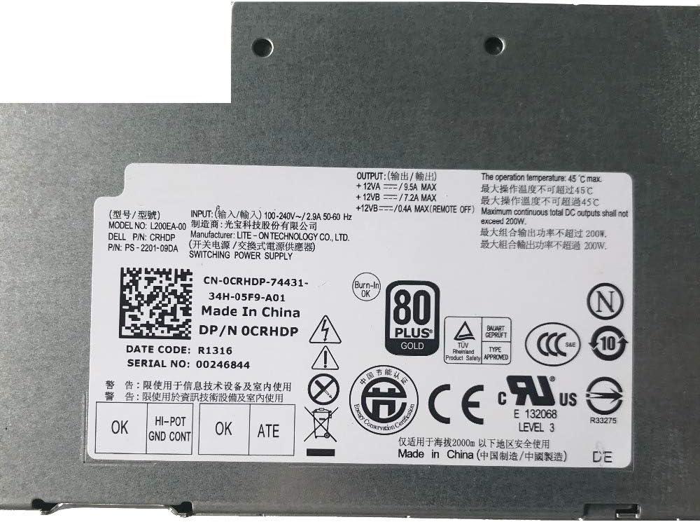 Cable Length: PC Power Supplies ShineBear Original CN-0CRHDP for DELL Optiplex 9010 9020 2330 Power Server Power Supply 0CRHDP CRHDP L200EA-00 PS-2201-09DA