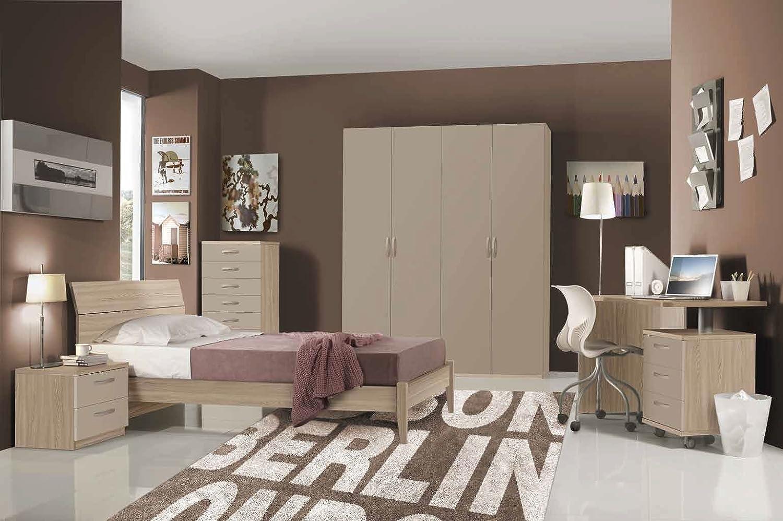 Valentini Bedroom Complete Model Hurra Composition 4 Colour Elm And Mink Amazon Co Uk Kitchen Home