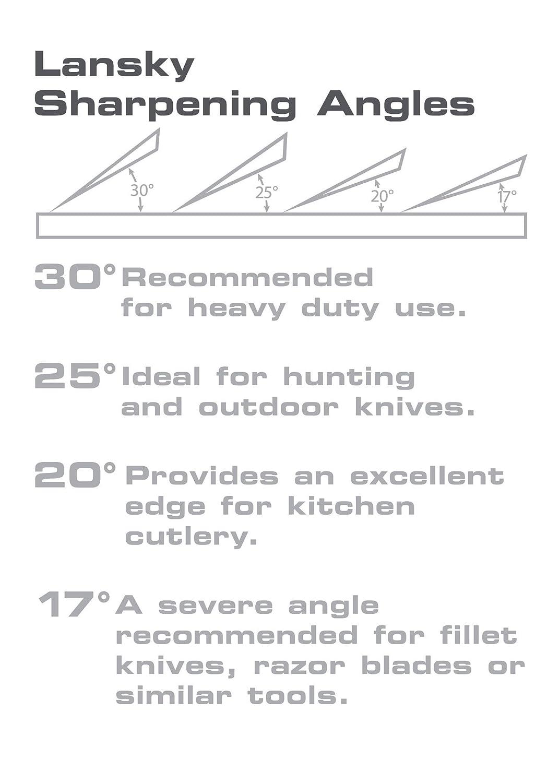 Lansky 4 Stone Deluxe Diamond System Precision Knife Sharpening Kit