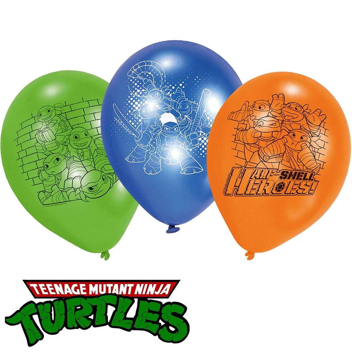 6 Globos de látex * Teenage Mutant Ninja Turtles * como ...