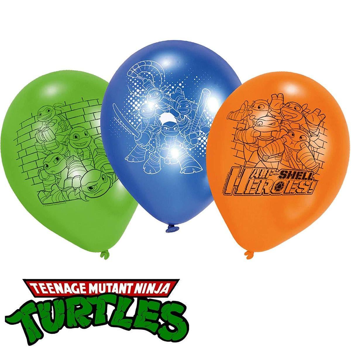 6 Globos de látex * Teenage Mutant Ninja Turtles * como ...