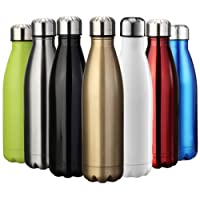 EVIICC Water & Drinks Bottle Sports Insulated Stainless Steel Vacuum Flask Double-walled for Outdoor Hiking Running Cycling Camping - 350ml & 500ml & 750ml & 1000ml