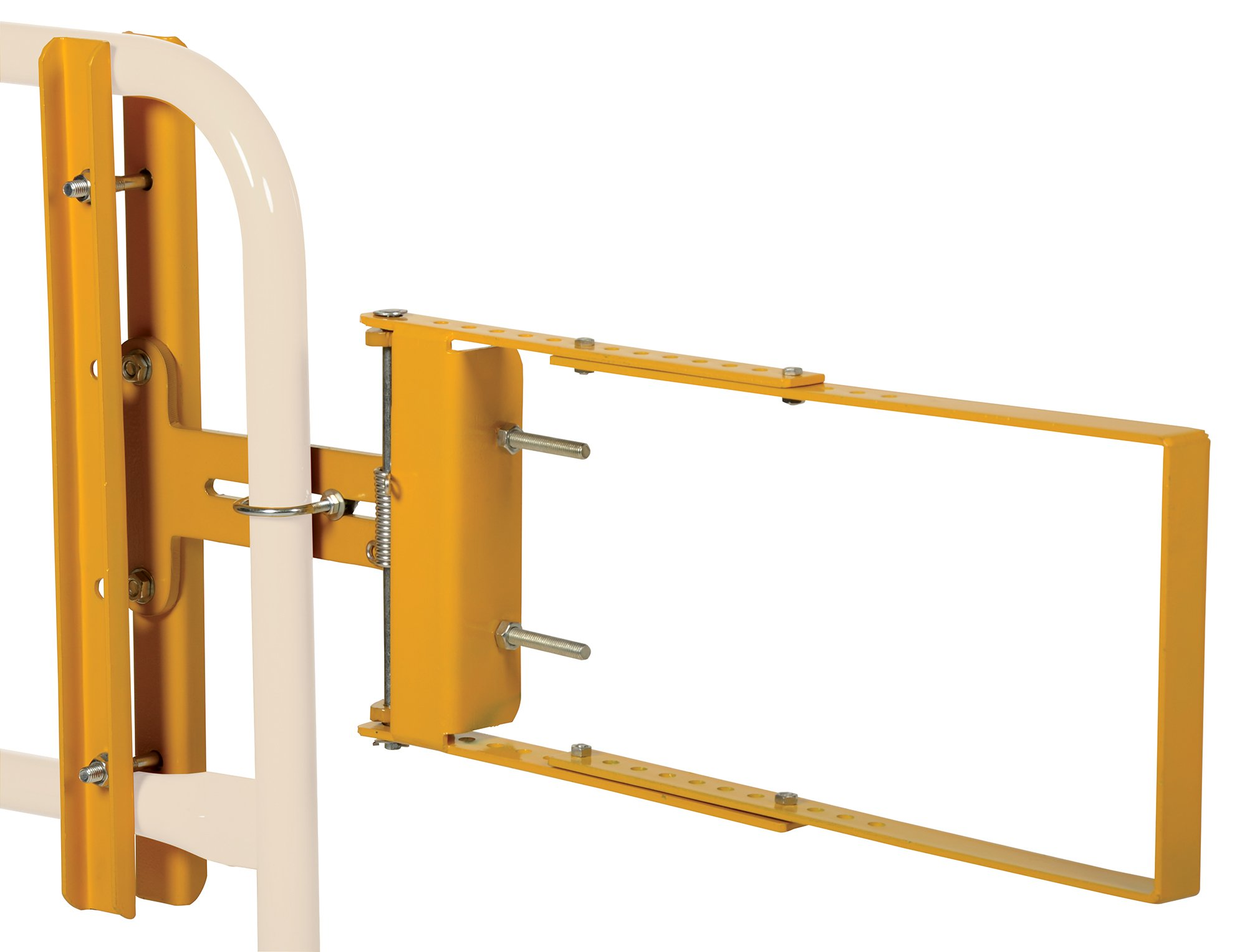 Vestil SPG-40-Y Self-Closing Steel Gate with Yellow Powder Coat Finish, 24'' - 40'' Opening Width, 12'' Height