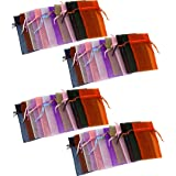 48 Organza Drawstring Pouches Gift Bags Assorted