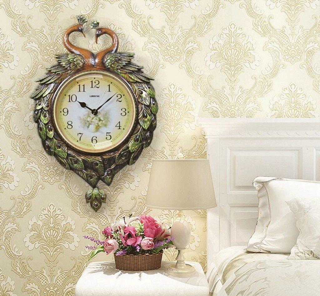 TXXM クリエイティブウォールクロック吉祥のアートリビングルームミュートの壁時計現代のヨーロッパのスイング時計の装飾 (色 : C, サイズ さいず : 20 inches) B07FB1H641 20 inches|C C 20 inches