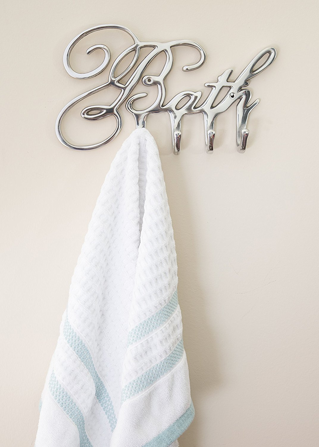 Decorative Bath Towel Hooks Bathroom Hanger By Comfify | Aluminum Wall Hooks  Rack For Towels, Robes, Bathroom Accessories | Luxury Font Design, ...