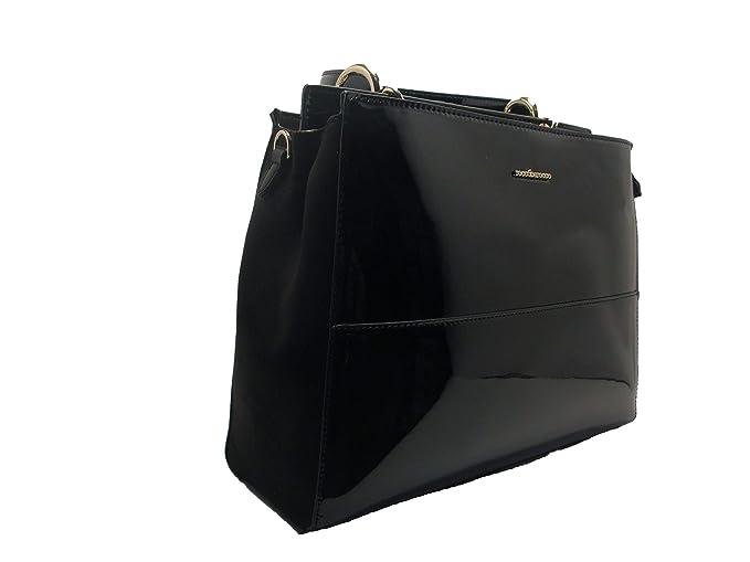 04d3f18b26 Roccobarocco Robs1uo01 Borsa A Spalla Donna Nero TU: Amazon.it:  Abbigliamento