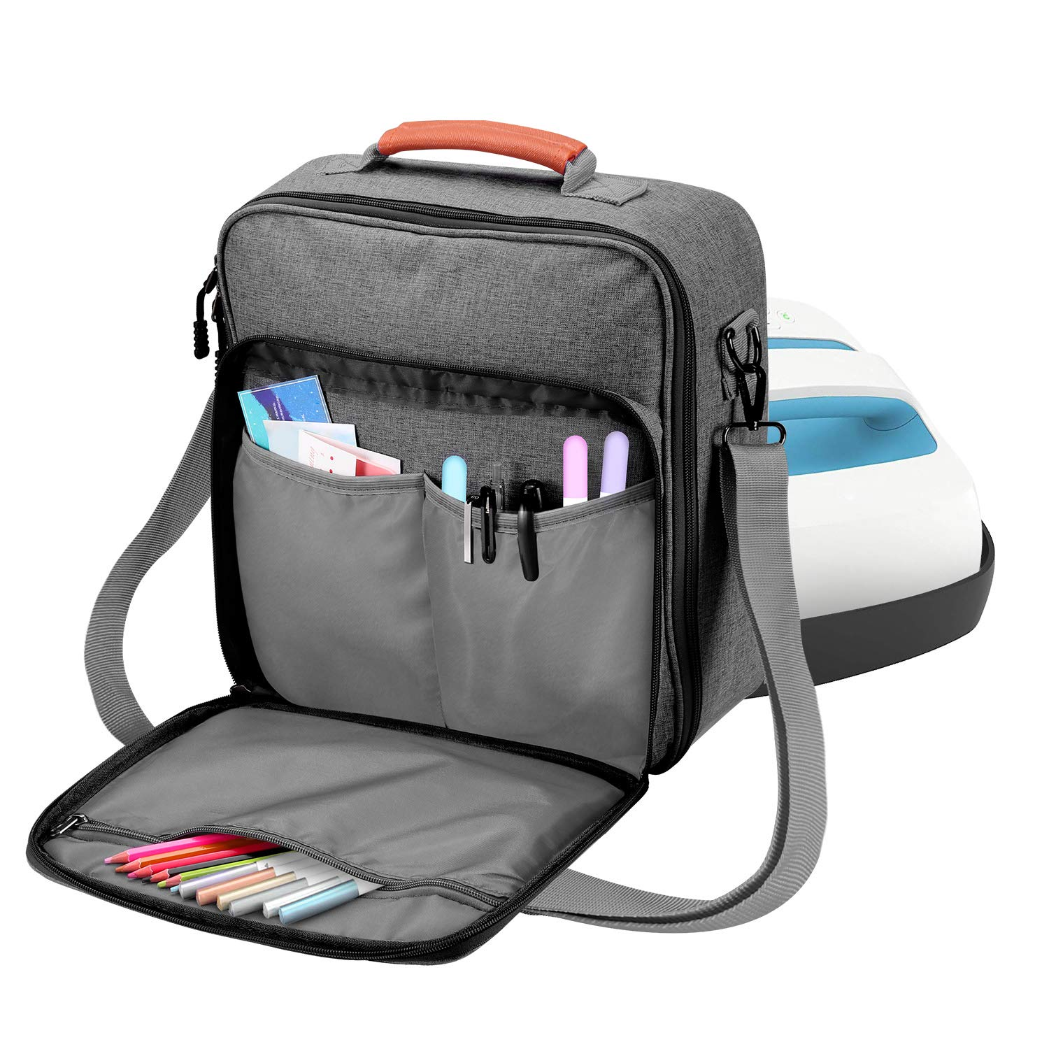Carrying Case for Easy Press - Carrying Bag Compatible with Cricut Easy Press (9 inches x 9 inches), Tote Bag Cricut Accessories (Grey) by Farochy