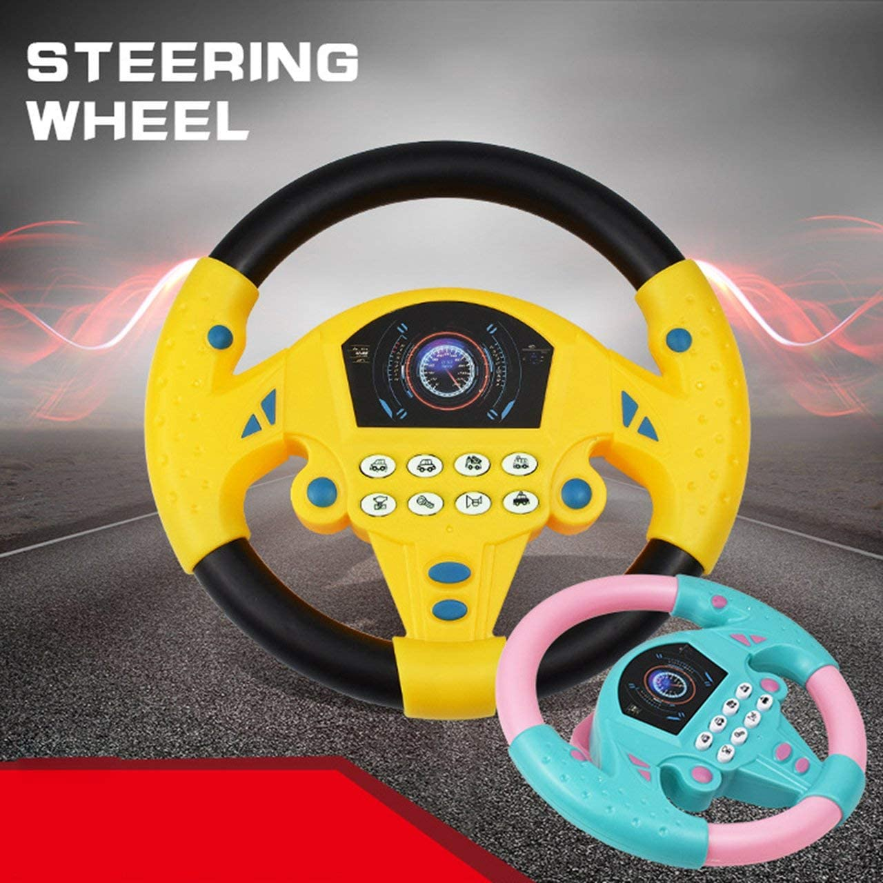 Jasnyfall Childrens Educational Toys Simulation Steering Wheel Toy ...