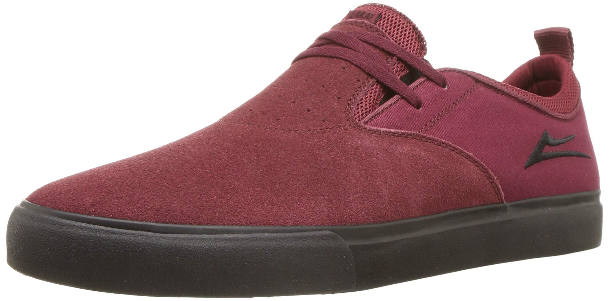 Lakai Limited Footwear Mens Riley 2 Skate Shoe, Burgundy/Black Suede, 12 M US by Lakai Limited Footwear Mens