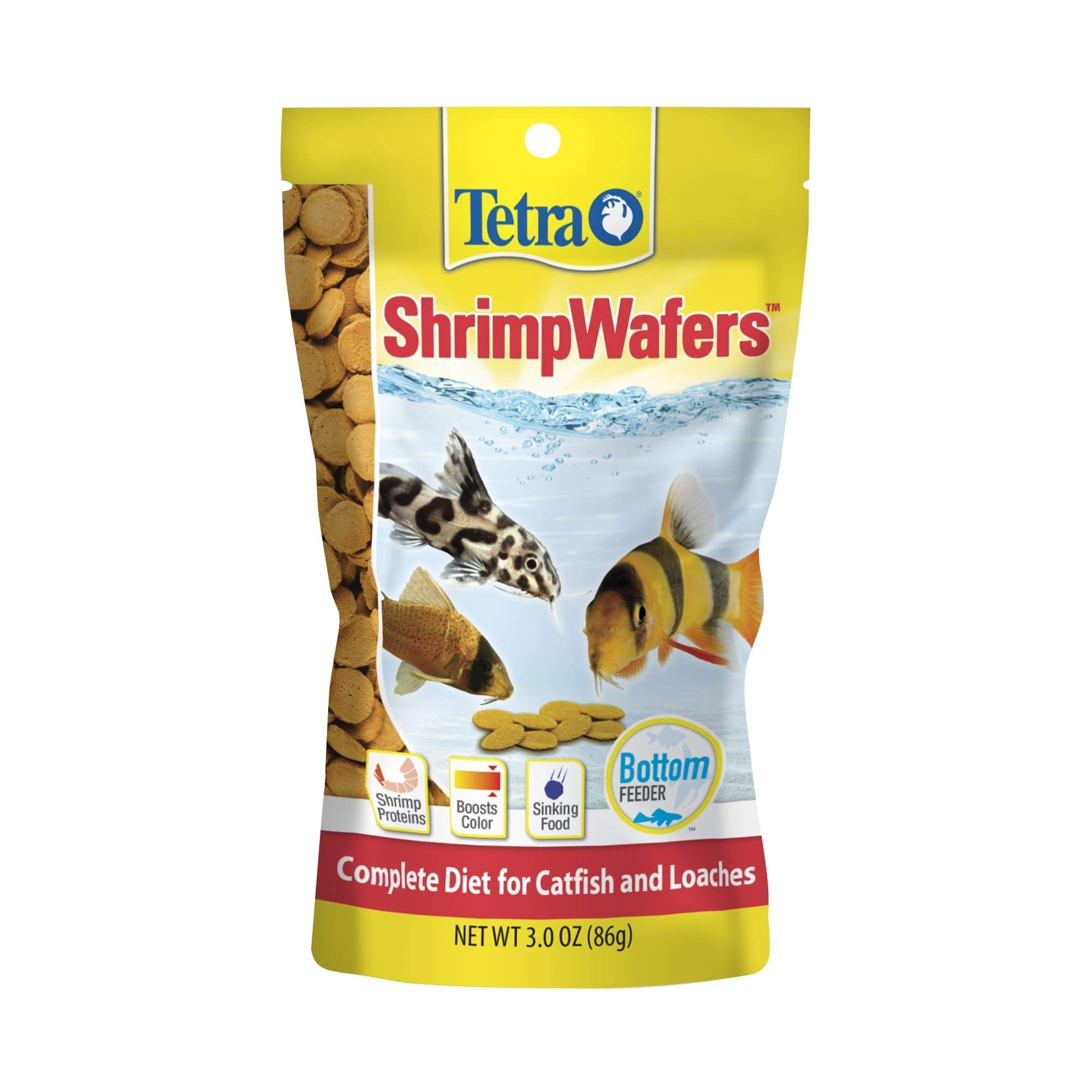 Tetra ShrimpWafers Complete Diet for Catfish and Loaches 3 Ounce