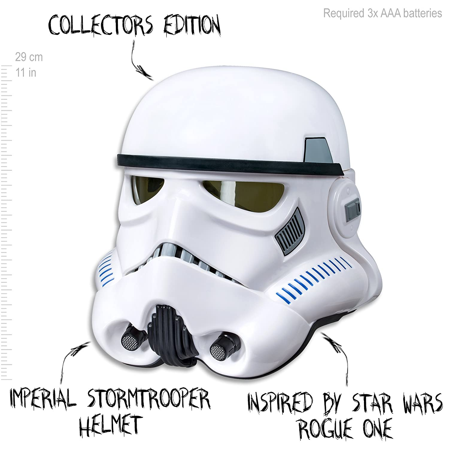 f80a0f78939 STAR WARS - Black Series - Imperial Stormtrooper Voice Changer Helmet -  Collectors Edition - Kids Dress Up Toys - Ages 8+: Amazon.com.au: Toys &  Games