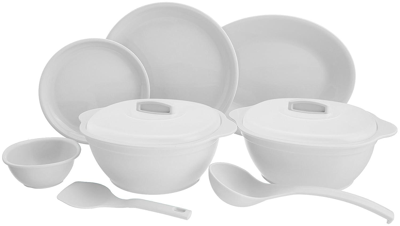 Signoraware Round Dinner Set, 31-Pieces, White