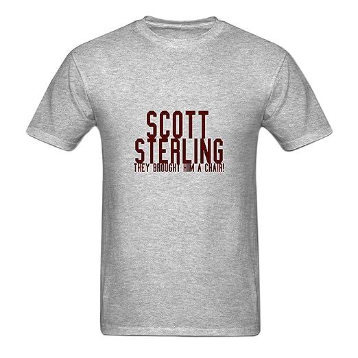 Amazon.com  Yamoon Men s Gray Scott Sterling T-Shirt  Clothing f4bcbf8397