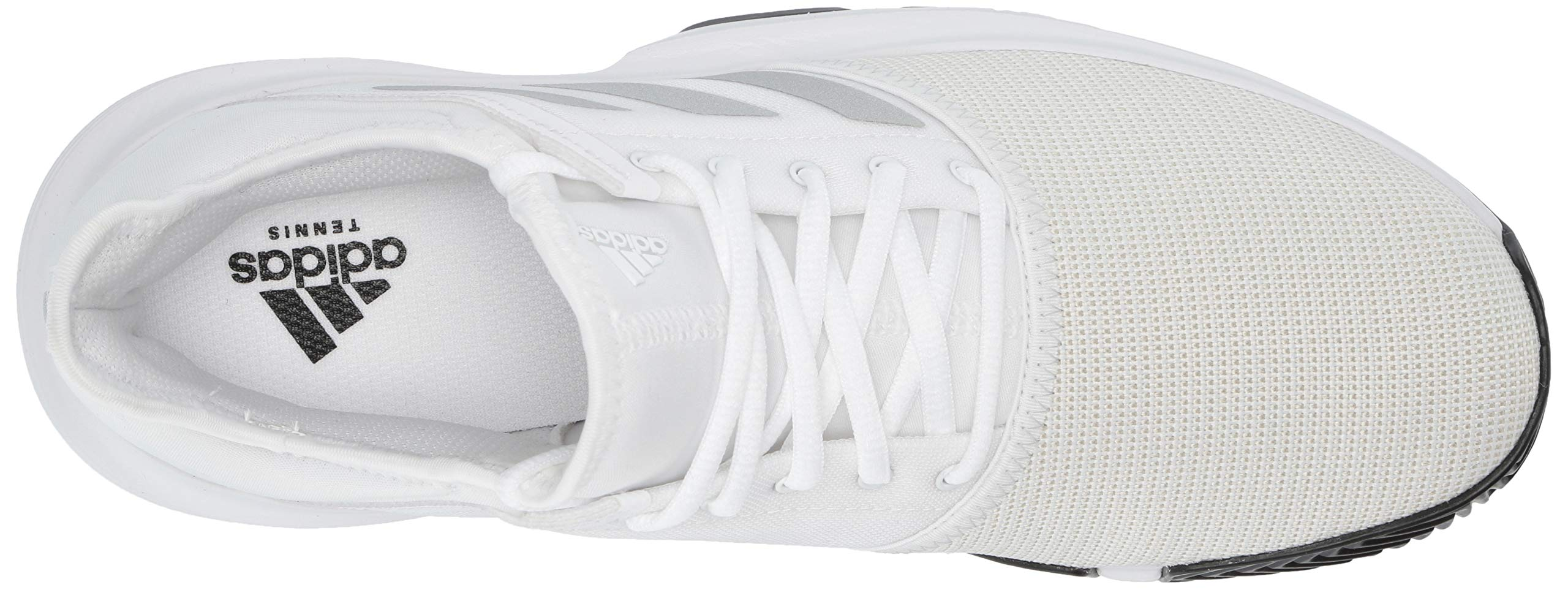 adidas Men's Gamecourt, White/Matte Silver/Black, 7.5 M US by adidas (Image #11)
