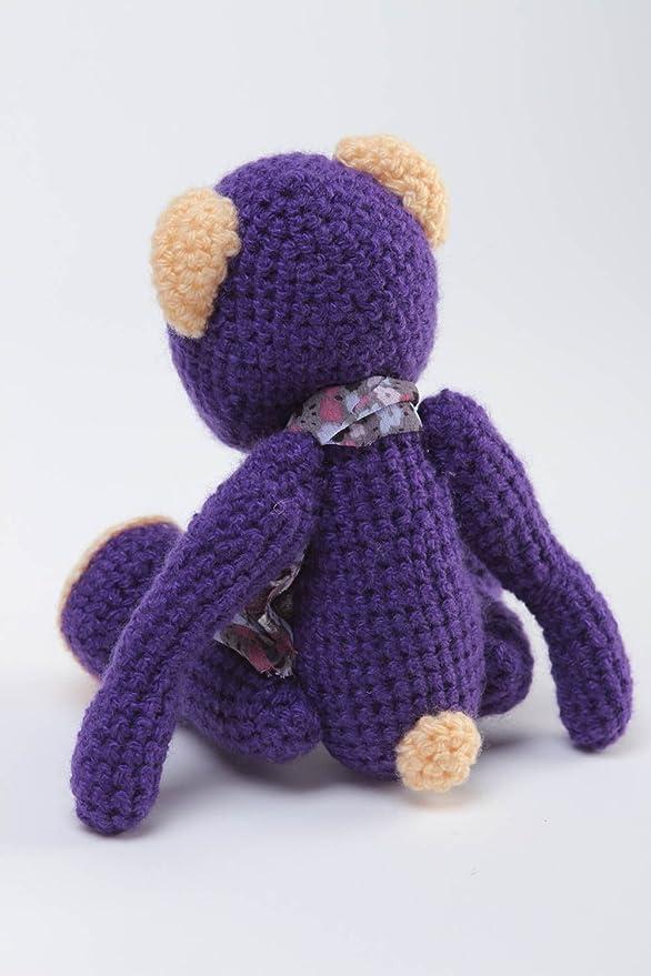 Osito de peluche hecho a mano juguete tejido regalo original para ninos: Amazon.es: Juguetes y juegos