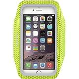 iPhone6アームバンドケース 厚さ僅か1mmの超薄型,EOTW iPhone6 / 6S 4.7インチ スポーツアームバンド ランニング スマホケース 防水 超軽量 キーポケット付 (蛍光緑)