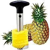 SODIAL£¨Wz.) Edelstahl-Schneider Aufschnittmesser und Fruchtentkerner Fuer Ananas