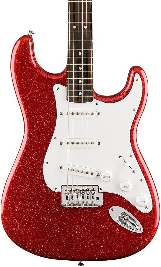 Fender Squier Bullet Strat SSS Trémolo, edición limitada, color rojo brillante: Amazon.es: Instrumentos musicales