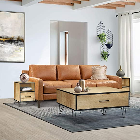 CAP LIVING Classic Multipurpose Rectangular Wood Coffee Table w/One Drawer
