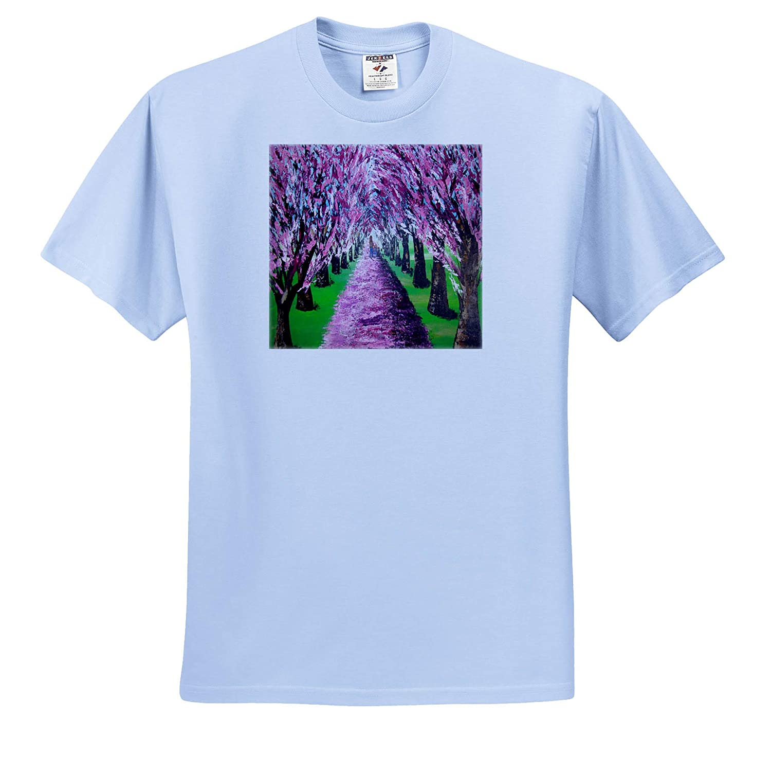 an Image of a Girl Picking Lilacs Trees - T-Shirts 3dRose Art by Mandy Joy People Girls