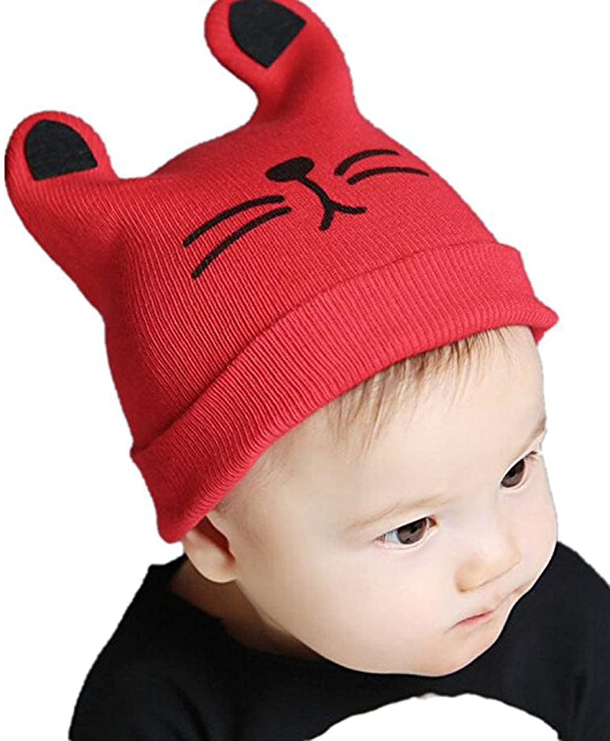 Cute Lovely Unusal Baby Infant knitted cap Cat Ear Beanie Winter Warm Hat(Gray) acoolstore