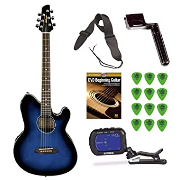 Ibanez TCY10E Talman guitarra acústica/eléctrica (azul) + free DVD, guitarra fotos