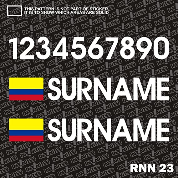Amazon.com: colombia surname flag driver race number car window sticker decal drift rally racing drag jdm euro dtm usdm fast furious cabriolet turbo: ...