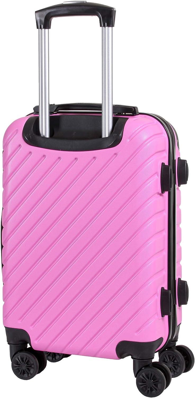 maleta dura equipaje de mano 55x37x20 Ideal a bordo de Ryanair CABIN GO MAX 5510 Suitcase Trolley ABS Air Italy Alitalia easyJet carcasa dura y resistente a los ara/ñazos con 8 ruedas Lufthansa