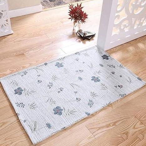BMKY Felpudos Hojas verdes en la puerta esteras colchones puerta alfombra alfombrillas mat (Color :