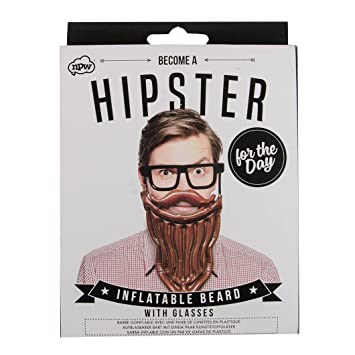 7228f132cb76d3 Hipster Inflatable Beard with Glasses  Amazon.co.uk  Toys   Games