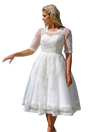 Brautkleid Spitze Tee Lange Wadenlang Hochzeitskleid Xs S M L Xl Xxl