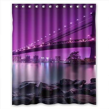 Home Fashion Rust Proof Music Shower Curtains, 60u0026quot;(w) X 72u0026quot;