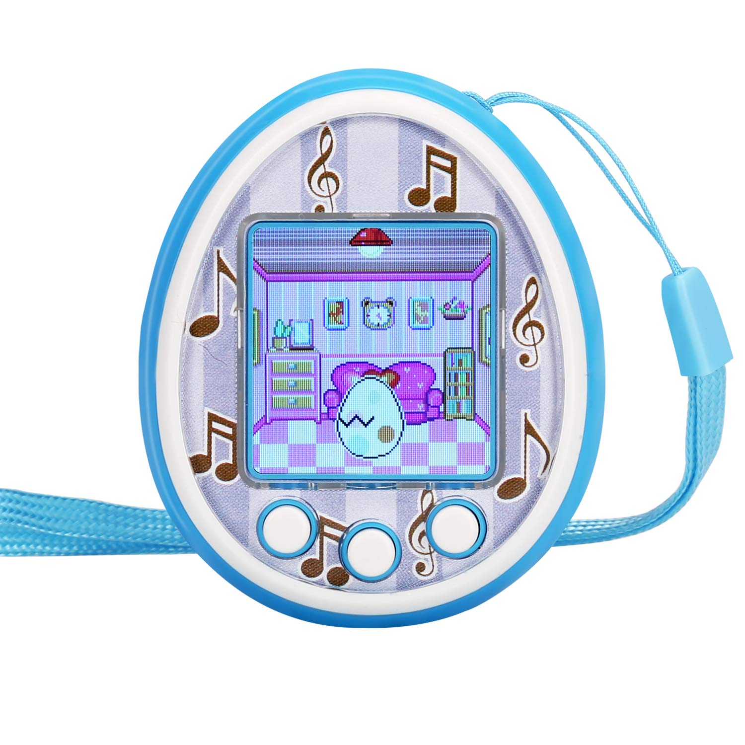Fantasy Kids Virtual Pet Game Machine Electronic controler Toys-(2019 HD Color Screen,Wireless Interaction,USB Rechargeable,Over 30 Kinds of Gameplay,Toy Gifts for Boys Girls Toddlers(Blue)