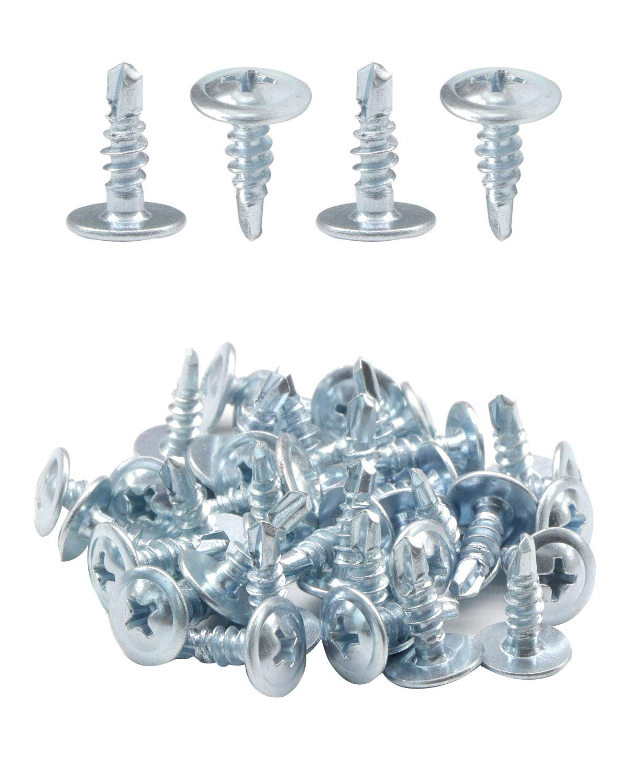 """IMScrews 50pcs #7 x 1/2"""" Self Drilling Truss Head Screws Standard Thread Wood Work MDF Zinc"""